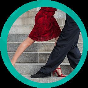Música en vivo y danza a ritmo de tango